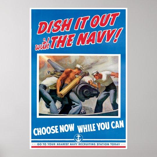 Vintage World War 2 Navy Poster