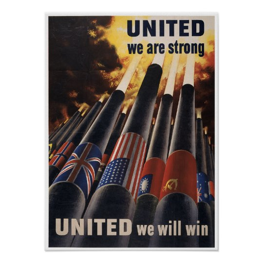 Vintage World War 2 Poster
