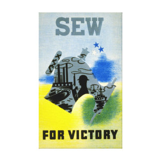 Vintage World War 2 Sew for Victory Canvas Print
