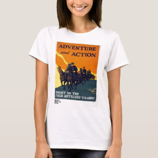 Vintage World War I Adventure in Action Army T-Shirt