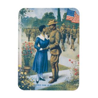 Vintage World War I Colored Man Is No Slacker Magnet