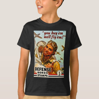 Vintage World War II Defense Bonds Stamps T-Shirt