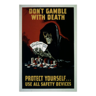 Vintage World War II Safety Equipment Poster