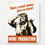 Vintage World War Propaganda Mousepad