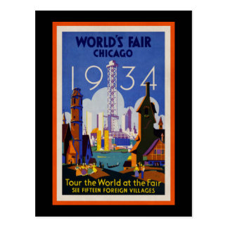 Vintage World's Fair 1934 Advert Postcard
