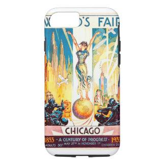 Vintage Worlds Fair Chicago 1933 Poster iPhone 7 Case