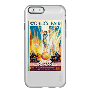 Vintage Worlds Fair Chicago Poster 1933 Incipio Feather® Shine iPhone 6 Case