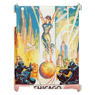 Vintage Worlds Fair Chicago Poster 1933 iPad Case