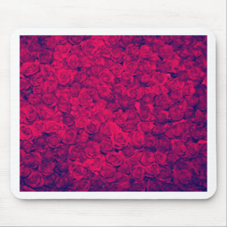 Vintage worn chic hipster textile deep red roses mouse pads