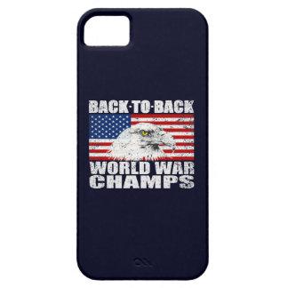Vintage Worn World War Champs Eagle & US Flag iPhone 5 Cases
