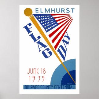 Vintage WPA Flag Day Poster