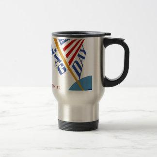 Vintage WPA Flag Day Travel Mug