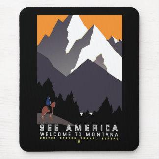 """Vintage WPA Montana Poster"" Mouse Pad"