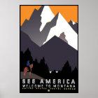 """Vintage WPA Montana Poster"" Poster"