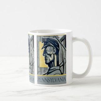 Vintage WPA Pennsylvania Miner Gift Mug