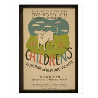 Vintage WPA Poster - Retro to 1941 Postcard