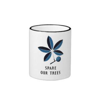 """Vintage WPA """"Spare our Trees"""" Mug"""