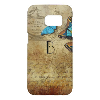 Vintage Writing and Butterflies Samsung Galaxy S7 Case
