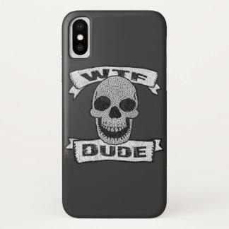 Vintage WTF Dude Skull iPhone X Case