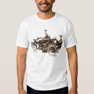 Vintage WW1 Motorcycle Machine Gunners T-shirt