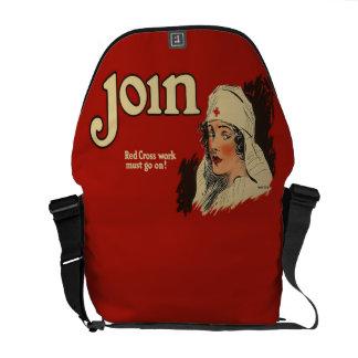 Vintage WW1 Red Cross Nurse Recruitment Courier Bag