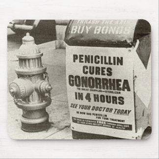 Vintage WW2 Penicillin Gonorrhea Advert Mouse Pads