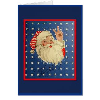 Vintage WW2 Santa Claus Card Copy
