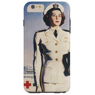 Vintage WWII Navy Nurse Tough iPhone 6 Plus Case