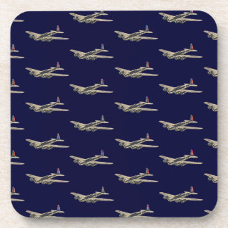 Vintage WWII US Aircraft 2 Drink Coasters
