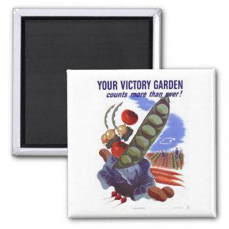 Vintage WWII Victory Garden Propaganda Poster Magnet