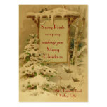 Vintage Xmas 1902 Business Card Template