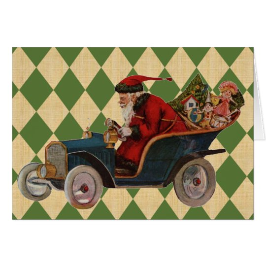 Vintage Xmas Santa Card