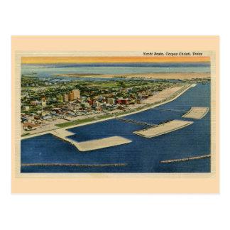 Vintage Yacht Basin, Corpus Christi, Texas Postcard