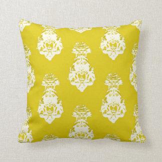 Vintage yellow background throw pillow