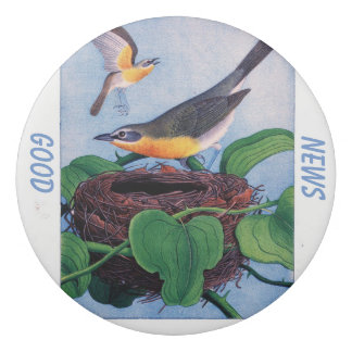 Vintage-yellow bird-good news-wordings eraser