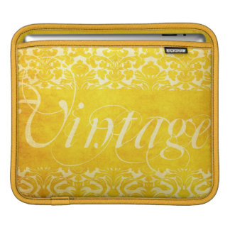 Vintage Yellow Gold Damask iPad Cover Case iPad Sleeves