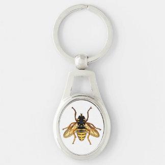 Vintage Yellow Honey Bee Keychain