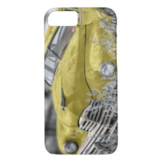 Vintage yellow old car  phone case