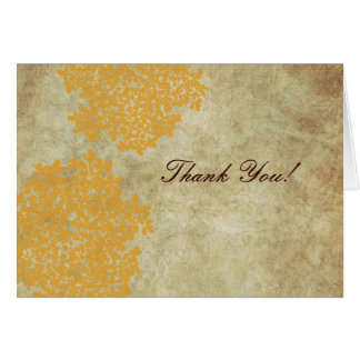 Vintage Yellow Queen Ann's Lace Thank You Greeting Card