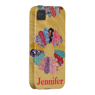 Vintage Yellow Quilt Case-Mate iPhone 4 Cases