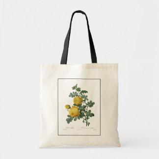 Vintage yellow rose painting bag