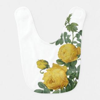 Vintage yellow rose painting bib
