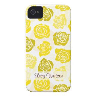 Vintage yellow roses BlackBerry Bold Case