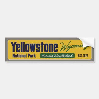 Vintage Yellowstone National Park Bumper Sticker