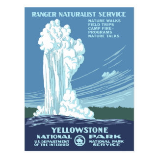 Vintage Yellowstone WPA Postcard
