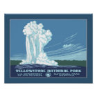 Vintage Yellowstone WPA Travel Poster