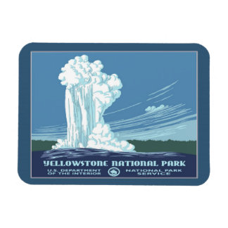 Vintage Yellowstone WPA Travel Rectangular Photo Magnet