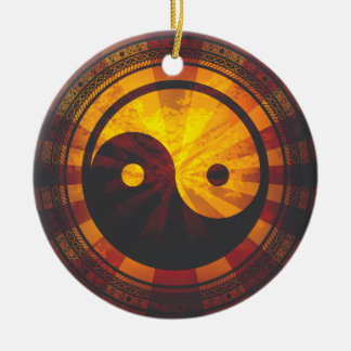 Vintage Yin Yang Ceramic Ornament