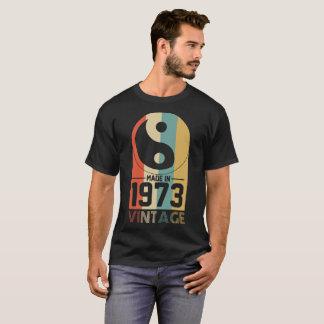 Vintage Yin Yang Retro Made In 1973 45th Birthday T-Shirt