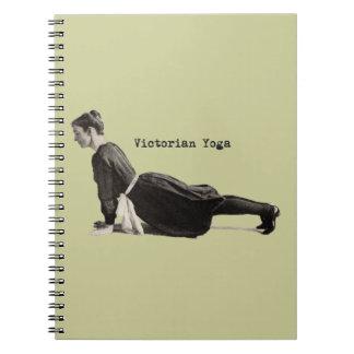 Vintage Yoga Woman Doing Upward Facing Dog Pose Notebook